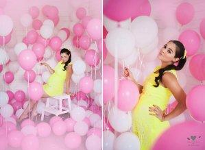 Фотосессия с шарами для будущих мам
