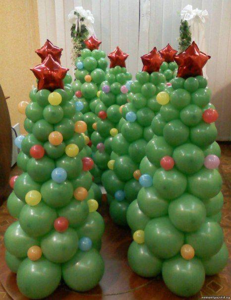 Пирамида из воздушных шаров своими руками