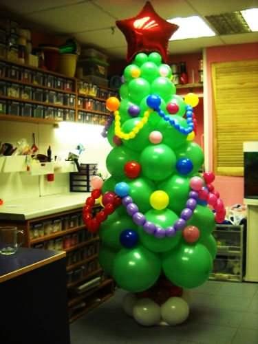 Украшение зала к новому году шариками