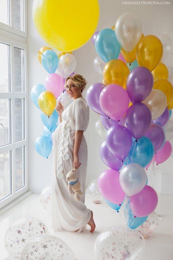 Фото беременная воздушный шар