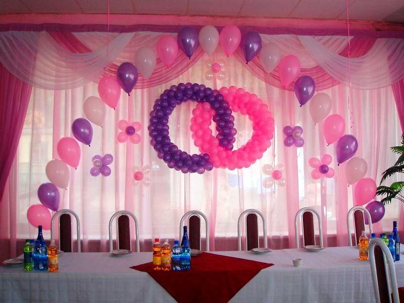 Украшение свадебного зала шарами фото